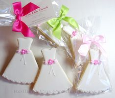 Wedding Cookies, Wedding Favors, Bridal Shower Favors ... Wedding Dress Cookies by Rolling Pin Productions