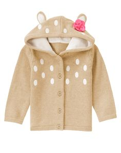 Fawn Hooded Cardigan at Gymboree