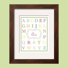 Alphabet in Rainbow and Pastel colors   Children's by YassisPlace, $14.95
