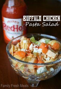Buffalo Chicken Pasta Salad - FamilyFreshMeals.com