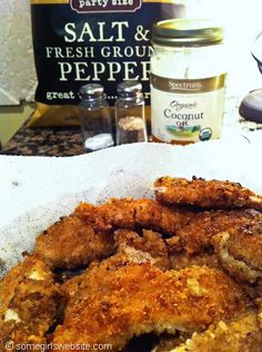 Recipe for Salt and Pepper gluten free, diary free, soy free fried chicken using coconut oil.