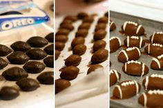 Football Oreo Truffles - what a fun football party food to make with the whole clan!