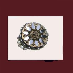 Vintage black gold pearls adjustable ring. SIGNED HOLLYCRAFT      http://www.letsgetvintage.com/moreinfo.php?id=1325