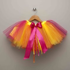 Rainbow Sherbert fairy tutu capes, ribbons, cape rainbow, rainbows, sherbet tutu, overlays, oranges, headbands, rainbow sherbet