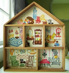 Embroidered Doll House