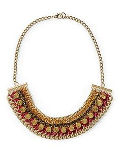 Woven Chain Statement Necklace