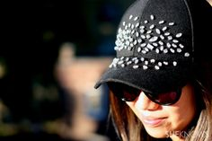 DIY: embellished baseball cap