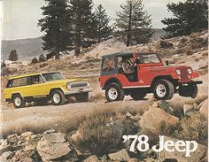 1978 Jeep Cherokee Chief and Jeep CJ-5 Renegade with Levi's Interior