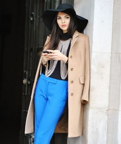 color combos, outfit, necklac, street styles, winter fashion