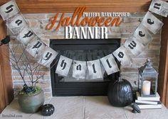 Pottery Barn Inspired Happy Halloween Banner