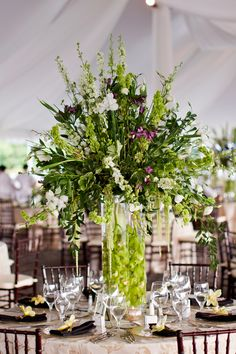 big flower arrangements, party flowers