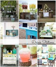 DIY Drink Stations -