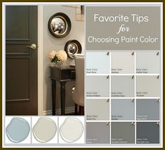 Tricks for choosing paint colors by eliminating undertones and eliminating shades that you know you don't want.  {The Creativity Exchange}