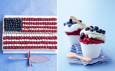 Flag cake! It's a family tradition for the 4th of July. flag cake