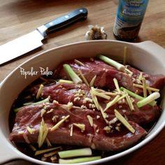 Paleo Ginger Beef with Broccoli & Portobellos | Popular Paleo