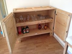 diy bar from crates
