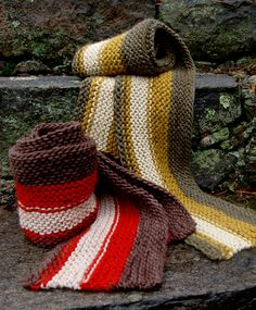Whit's Knits: Men's Rustic Scarf from Last-Minute Knitted Gifts - The Purl Bee - Knitting Crochet Sewing Embroidery Crafts Patterns and Ide...