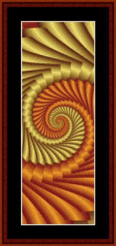 FREE Fractal counted cross stitch pattern!