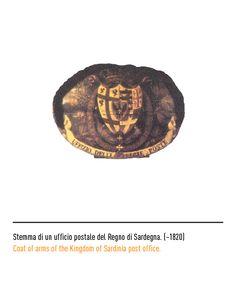 Marchio Poste Italiane - Stemma di un ufficio postale del Regno di Sardegna ~1820