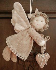 Como hacer un angelito de tela