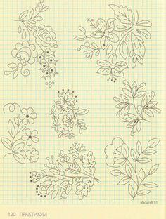 Gallery.ru / Photo # 102 - Embroidery - Los-ku-tik flower embroideri, embroideri pattern, embroideri idea