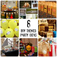 Boy Themed Birthday Party Ideas