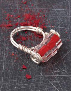 free tutorial: Glass Cane Ring on http://www.createmixedmedia.com