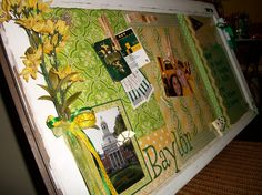 Old window decorated for #Baylor!
