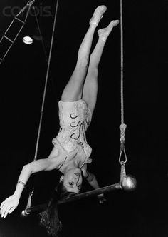 Trapeze Artist practicing her act