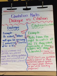 quoting dialogue from a novel in an essay