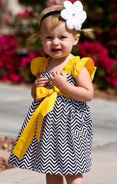 Chevron girl dress