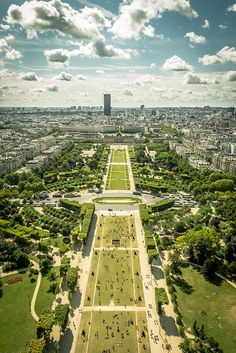 Champ de Mars, view from the Eiffel Tower, France