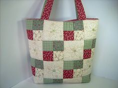 Spring Daisies Quilted Tote Bag by DashasCreations, via Flickr.