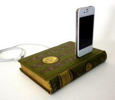 Alexander Pope Poetry Book Charging Dock. bedside perfect!