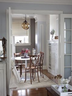 Love this glass pendant! >> http://www.hgtvremodels.com/interiors/making-a-tiny-apartment-livable/index.html?soc=pinterest#