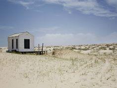 beach hut exterior