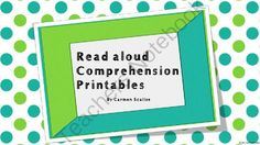 Read Aloud Retelling Printables  from Carmen's Teaching Creations  on TeachersNotebook.com -  (6 pages)  - There are different printables that make this activity possible for any grade. Read any book aloud, and students can draw pictures, or draw pictures and write sentences.