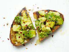 """Avocado """"bruschetta"""" (YUM!!!)"""