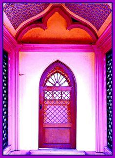 Wow!  purple..pink..orange door