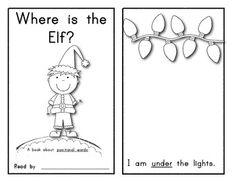 POSITION WORDS! Interactive Holiday Emergent Reader: Where is the Elf?