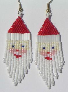 Santa Claus Beaded Earrings