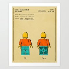 Lego Man patent print