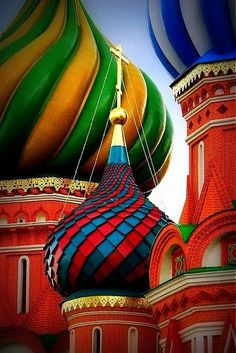 Cathedral of Vasily Moscow color palettes