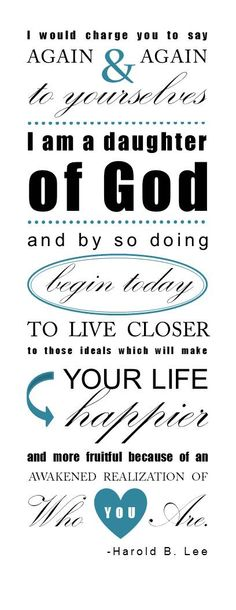Great quote and printable bookmark. Love this! #youngwomen #printable