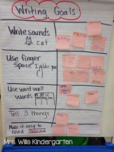 Setting writing goals in kindergarten