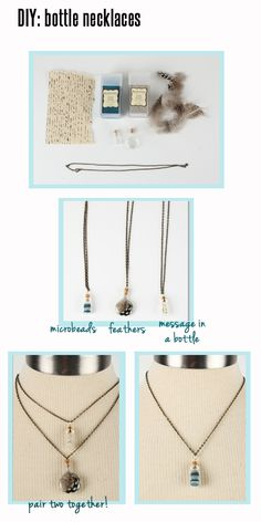 #DIY bottle #necklaces! Click to read more on the blog!