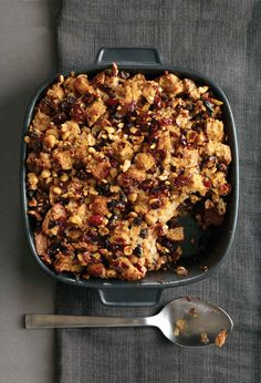 Rosemary Whole Wheat Stuffing with Figs and Hazelnuts | 25 Delicious Stuffing Recipes For Thanksgiving