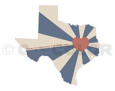 State of Love, Texas Art Print