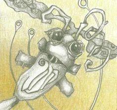 Bug with swirly eyes