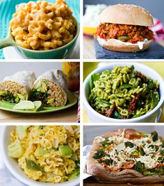 Meatless Meals to get in a healthy groove for back to school! 14 recipes. #kids #vegan